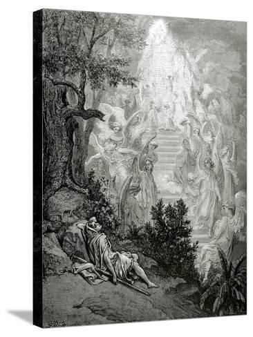 Jacob's Dream-Gustave Dor?-Stretched Canvas Print
