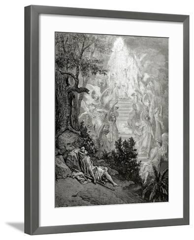 Jacob's Dream-Gustave Dor?-Framed Art Print