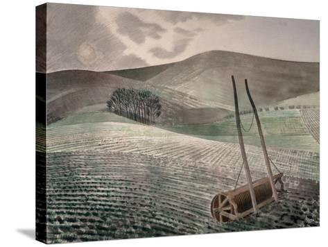 Downs in Winter-Eric Ravilious-Stretched Canvas Print
