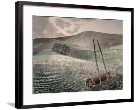 Downs in Winter-Eric Ravilious-Framed Art Print