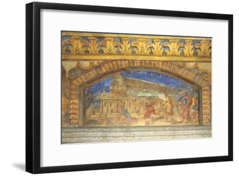 Depiction of Diana's Temple at Ephesus, Circa 1669-Nikolaus Schiel-Framed Art Print