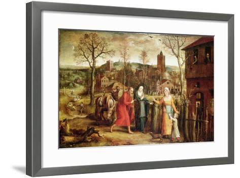The Holy Family Turned Away from the Inn, 16th Century-Jan Seydlitz-Framed Art Print