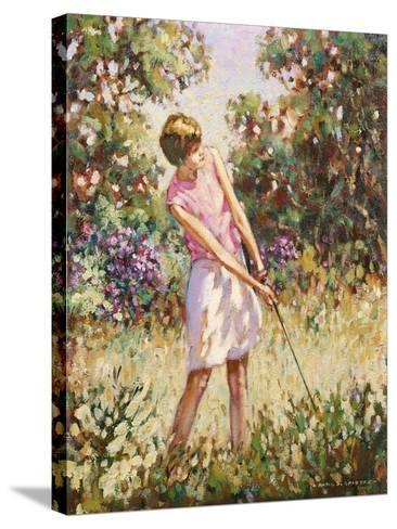 Lady Golfer in the Rough-Paul Gribble-Stretched Canvas Print