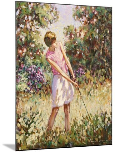 Lady Golfer in the Rough-Paul Gribble-Mounted Giclee Print