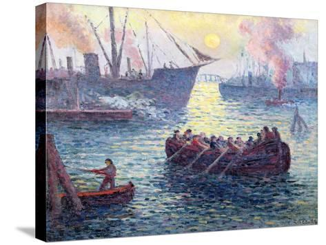 Rotterdam, the Port, 1907-Maximilien Luce-Stretched Canvas Print