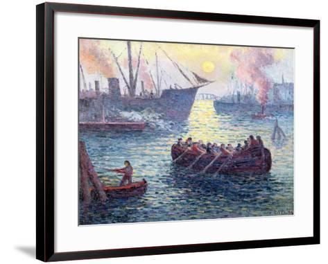 Rotterdam, the Port, 1907-Maximilien Luce-Framed Art Print