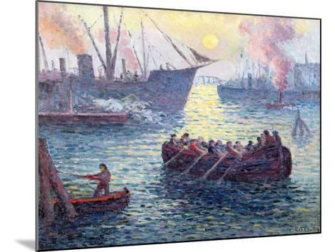 Rotterdam, the Port, 1907-Maximilien Luce-Mounted Giclee Print