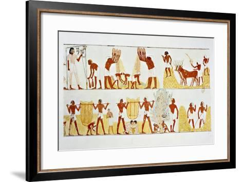 Ancient Egyptian Painting, 1936-Noel Laudin II-Framed Art Print