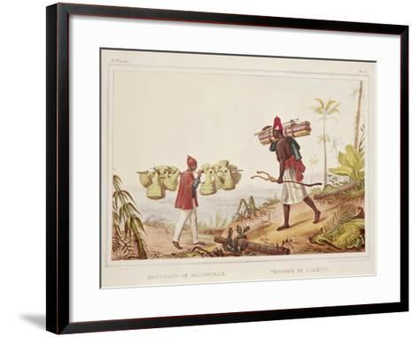 Brazil, Native Porters, from Picturesque and Historical Voyage to Brazil, 1835-Jean Baptiste Edouard Detaille-Framed Art Print