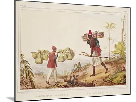 Brazil, Native Porters, from Picturesque and Historical Voyage to Brazil, 1835-Jean Baptiste Edouard Detaille-Mounted Giclee Print