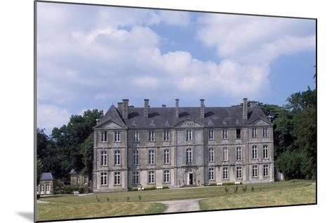 Chateau De Loyat's Facade, 1718-1734--Mounted Giclee Print