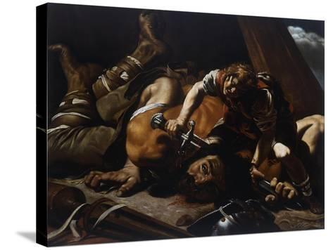David and Goliath-Orazio Grevenbroeck-Stretched Canvas Print