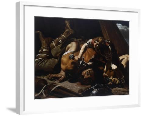 David and Goliath-Orazio Grevenbroeck-Framed Art Print