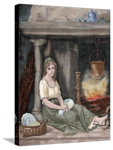 Cinderella-Paul Legrand-Stretched Canvas Print