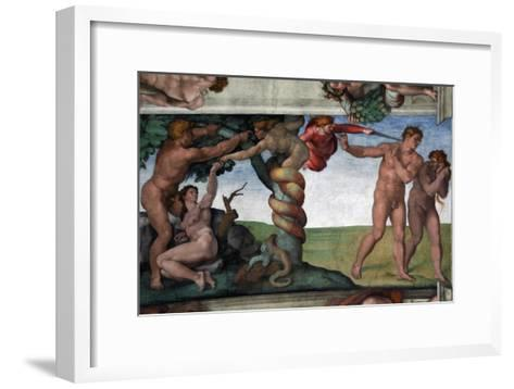 The Original Sin and the Expulsion from Paradise--Framed Art Print