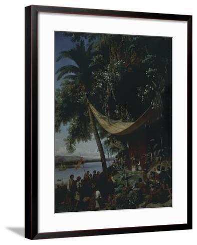 The First Mass in America-Philibert-Louis Debucourt-Framed Art Print