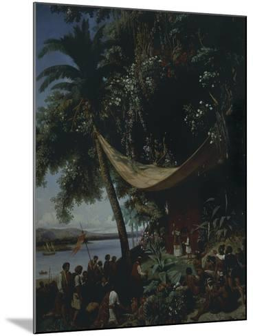 The First Mass in America-Philibert-Louis Debucourt-Mounted Giclee Print