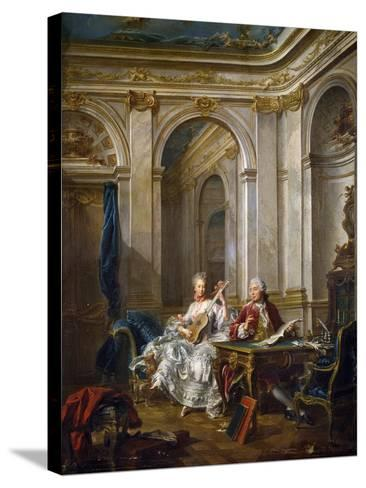 The Marquis and Marchioness of Faventines Creating Music-Jean-Baptiste Charpentier Le Vieux-Stretched Canvas Print