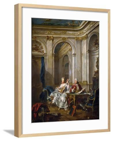 The Marquis and Marchioness of Faventines Creating Music-Jean-Baptiste Charpentier Le Vieux-Framed Art Print