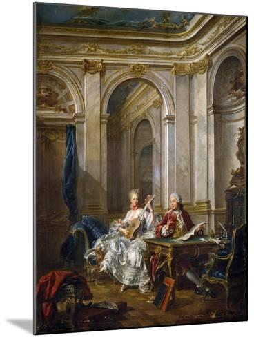 The Marquis and Marchioness of Faventines Creating Music-Jean-Baptiste Charpentier Le Vieux-Mounted Giclee Print