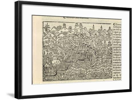 Supplementum Chronicarum, the City of Genoa, 1434-1520-Jacopo Marieschi-Framed Art Print