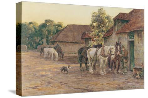 Evening-J^ M^ W^ Turner-Stretched Canvas Print