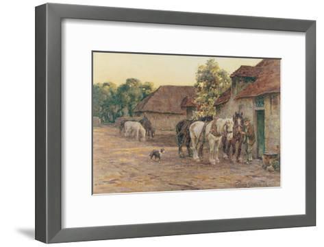 Evening-J^ M^ W^ Turner-Framed Art Print
