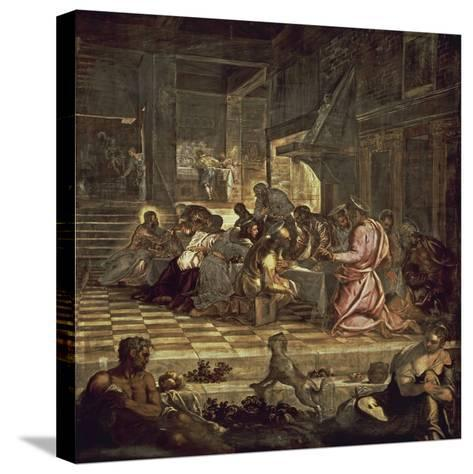 The Last Supper-Jacopo Sansovino-Stretched Canvas Print