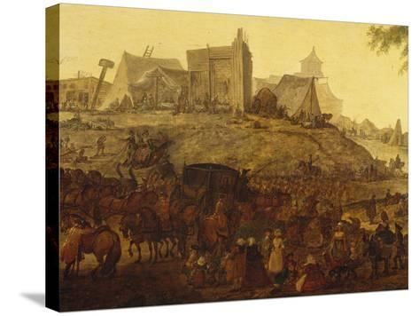 Encampment Near Saint Omer-Jacques-Andre-Joseph Aved-Stretched Canvas Print