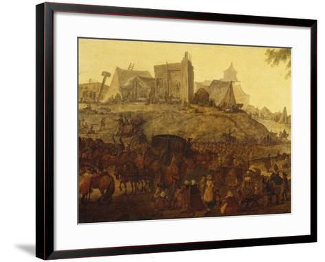 Encampment Near Saint Omer-Jacques-Andre-Joseph Aved-Framed Art Print