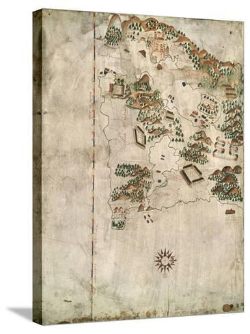 Map of Rio De Janeiro, 16th Century-Jacques-emile Blanche-Stretched Canvas Print