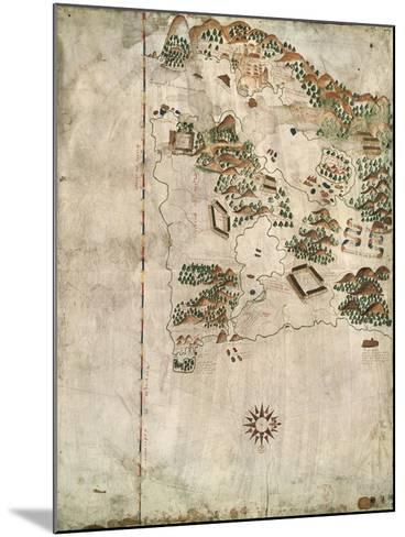 Map of Rio De Janeiro, 16th Century-Jacques-emile Blanche-Mounted Giclee Print