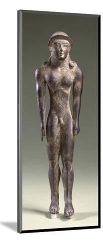 Bronze Statuette Depicting a Kouros, Front View, 7th Century BC--Mounted Giclee Print
