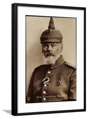 Prinz Leopold Von Bayern, Npg 5797, Spitzhut--Framed Art Print
