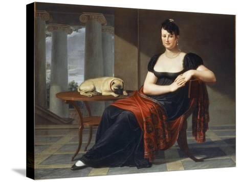 Portrait of Elena Mastiani Brunacci, 1809-Pietro Bigaglia-Stretched Canvas Print