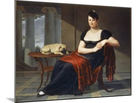Portrait of Elena Mastiani Brunacci, 1809-Pietro Bigaglia-Mounted Giclee Print