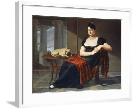 Portrait of Elena Mastiani Brunacci, 1809-Pietro Bigaglia-Framed Art Print