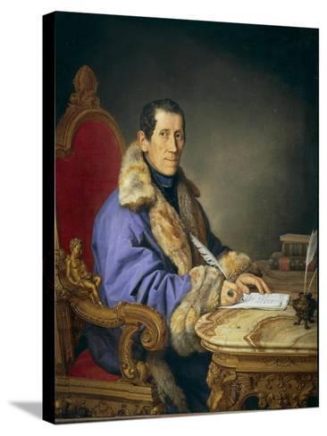 Portrait of Don Germanico Bernardi, 1836-Pompano Mariana-Stretched Canvas Print