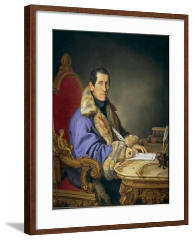 Portrait of Don Germanico Bernardi, 1836-Pompano Mariana-Framed Art Print