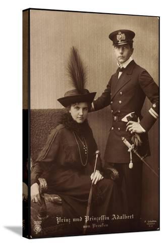 Prinz Und Prinzessin Adalbert Von Preu?en, Npg 5087--Stretched Canvas Print
