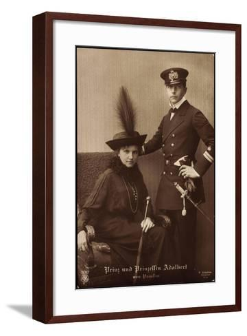 Prinz Und Prinzessin Adalbert Von Preu?en, Npg 5087--Framed Art Print