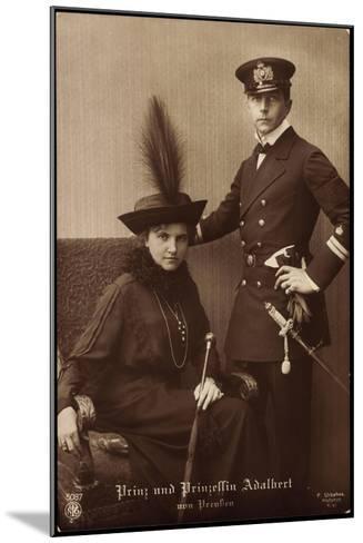 Prinz Und Prinzessin Adalbert Von Preu?en, Npg 5087--Mounted Giclee Print