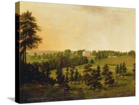 A View of Tapeley Park, Instow, North Devon-Willibrord Joseph Mahler or Maehler-Stretched Canvas Print