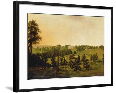 A View of Tapeley Park, Instow, North Devon-Willibrord Joseph Mahler or Maehler-Framed Art Print
