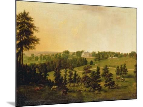 A View of Tapeley Park, Instow, North Devon-Willibrord Joseph Mahler or Maehler-Mounted Giclee Print