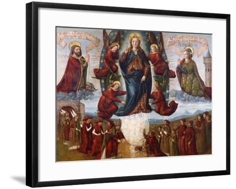 The Miracle of the Snow, Late 15th Century--Framed Art Print