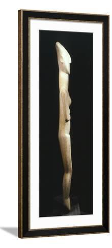 Female Figure Statue, Greece, Side View, Cycladic Civilization, 3500-1050 BC--Framed Art Print