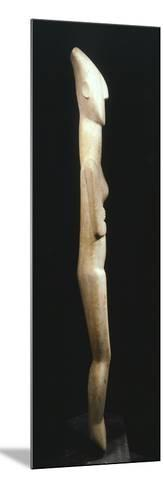 Female Figure Statue, Greece, Side View, Cycladic Civilization, 3500-1050 BC--Mounted Giclee Print