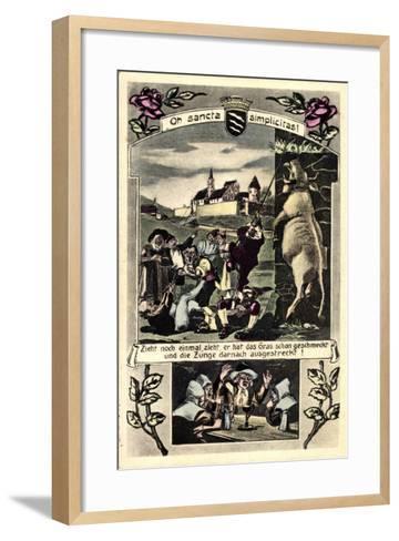 Künstler Beckum Krs. Warendorf, Männer Die Einen Bullen Hängen--Framed Art Print