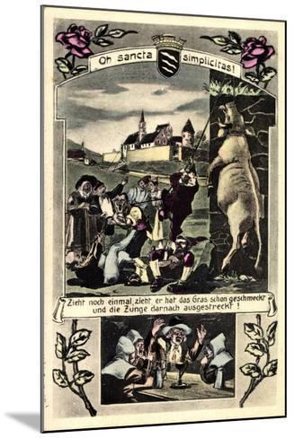 Künstler Beckum Krs. Warendorf, Männer Die Einen Bullen Hängen--Mounted Giclee Print